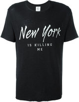 Zoe Karssen New York Is Killing Me T-shirt - men - Linen/Flax/Viscose - M