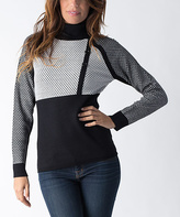 Yuka Paris Black & Ivory Color Block Sweater
