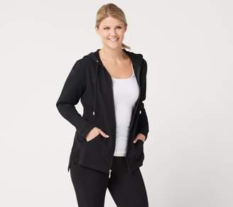 Denim & Co. Active Zip-Front Long-Sleeve Jacket w/ Hood