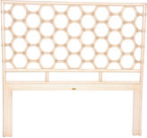 David Francis Furniture Honeycomb Headboard, Antiqued White