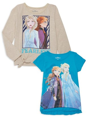 Disney Little Girl's Disney's Frozen 2 2-Piece Graphic T-Shirt Set