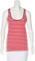 Tory Burch Striped Sleeveless Top