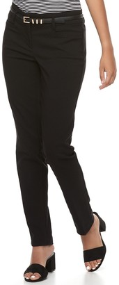 Candies Juniors' Candie's Audrey Black Low Rise Skinny Dress Pants