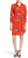 Foxcroft Petite Women's Floral Print Shirtdress