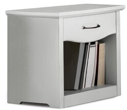 Canora Grey Mesa 1 Drawer Nightstand Color: Snow