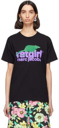 Marc Jacobs Black Stray Rats Edition Rat Girl T-Shirt