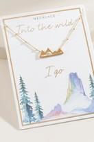 francesca's World Traveler Mountain Tier Necklace - Gold