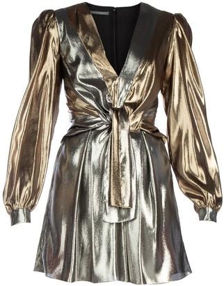 Alberta Ferretti Metallic Dress