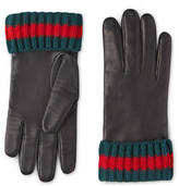 Gucci Leather and cashmere gloves