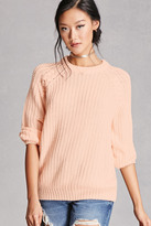 Forever 21 FOREVER 21+ Twelve Ribbed Knit Sweater