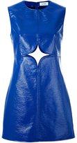 Courreges cut out detail shift dress - women - Cotton/Polyester/Polyurethane/Viscose - 36