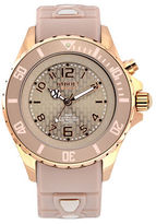 Kyboe! Analog Power Rose Goldtone Silicone Strap Watch