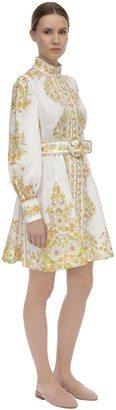 Zimmermann Printed Linen Mini Dress