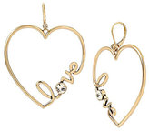 Betsey Johnson Hearts And Arrows Love Earrings