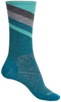 Smartwool PhD Run Ultralight Pattern Socks - Merino Wool, Crew (For Women)