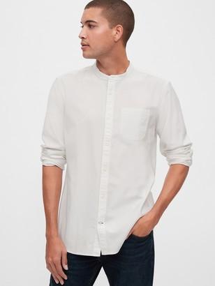 Gap Oxford Band-Collar Shirt