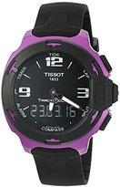 Tissot Men's 'T racing' Swiss Quartz Metal and Silicone Dress Watch, Color:Black (Model: T0814209705705)