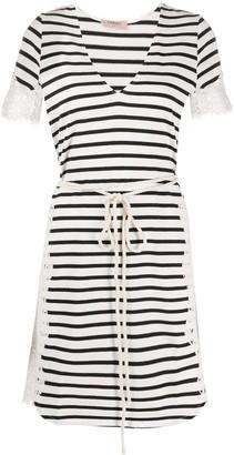 Twin-Set Twin Set striped short-sleeve dress