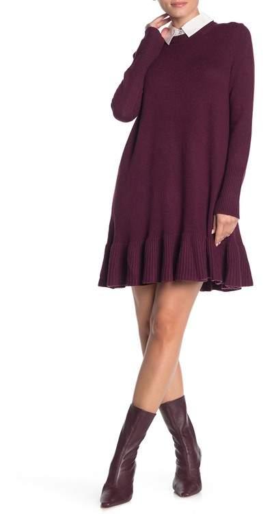 Cinq à Sept Oralie Ruffle Hem Knit Dress