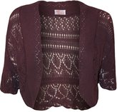 My Mix Trendz MyMixTrendz - Womens Crochet Knit Midi Sleeve Bolero Shrug