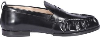 Tod's Ruched Penny-Bar Loafers