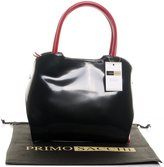 Primo Sacchi Italian Patent Leather Tote Grab Bag or Shoulder Bag with Fully Adjustable Strap. Includes a Branded Protective Storage Bag