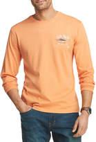 Izod Saltwater Mens Crew Neck Long Sleeve Graphic T-Shirt