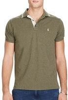 Polo Ralph Lauren Cotton Mesh Tipped Collar Slim Fit Polo Shirt