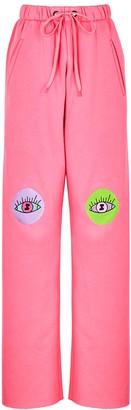 Natasha Zinko Pink Embroidered Jersey Sweatpants