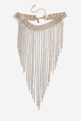Topshop Crystal Drape Choker Necklace
