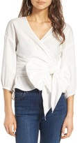 WAYF Women's Janis Wrap Top