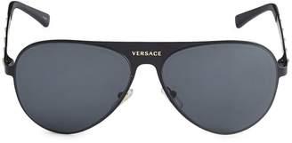Versace 59MM Pilot Metal Sunglasses