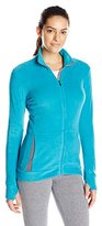 Cuddl Duds Women's Fleecewear with Stretch Long Sleeve Full-Zip
