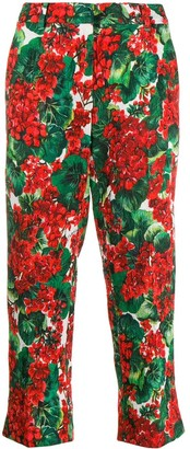Dolce & Gabbana floral cropped trousers
