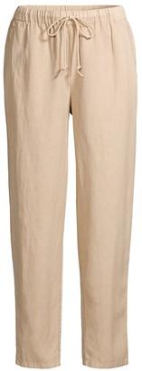 Eileen Fisher Linen-Blend Khaki Pants