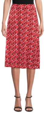 Kasper Abstract-Print Midi Skirt