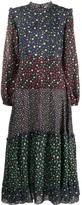 Rixo Billie Mixed Ditsy Floral-print dress