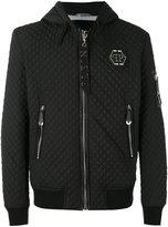 Philipp Plein quilted hooded jacket - men - Cotton/Nylon/Polyester/Spandex/Elastane - S