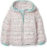 Gap ColdControl Lite print puffer hoodie