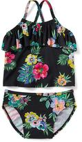Old Navy 2-Piece Ruffle-Trim Cross-Back Tankini for Toddler