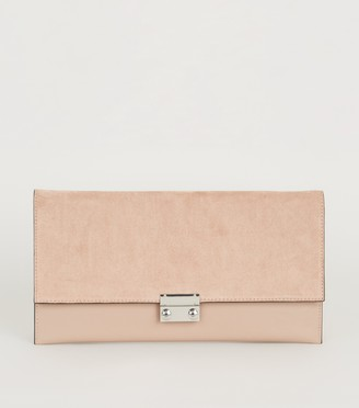 New Look Leather-Look Suedette Clutch Bag