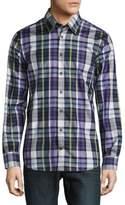 Robert Talbott Casual Plaid Cotton Sportshirt