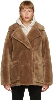 Yves Salomon Meteo Yves Salomon - Meteo Brown Wool Short Double-Breasted Coat