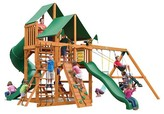 Gorilla Playsets Great Skye I Swing Set with Amber Posts & Deluxe Green Vinyl Canopy