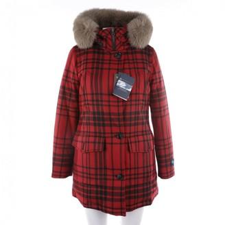 Woolrich Red Wool Coat for Women