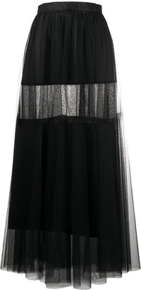 Atu Body Couture Tulle Layered Maxi Skirt