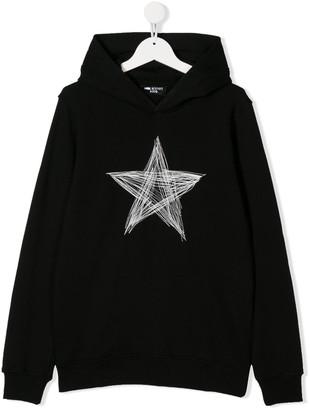 Neil Barrett Kids TEEN star stitched hoodie
