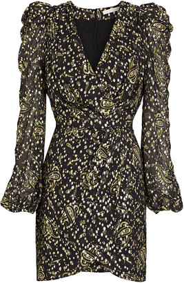 Jonathan Simkhai Maren Metallic Fil Coupe Mini Dress