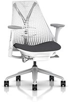 Herman Miller Sayl Task Chair: Tilt Limiter with Seat Angle Adjustment - Adj Lumbar Support - Adj Seat Depth - Fully Adj Arms - Hard Floor Casters - Fog Base / Studio White Frame
