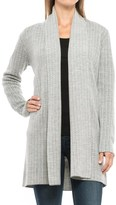 Adrienne Vittadini Double-Knit Cardigan Sweater - Merino Wool Blend, Shawl Collar (For Women)